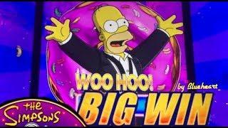 SIMPSONS slot machine HIGH ROLLER BONUS WINS!