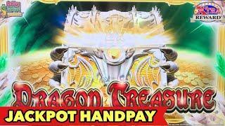 •JACKPOT HANDPAY•DRAGON TREASURE - FIRST HANDPAY in 2019   MAMMOTH POWER   SPARKLING ROSES BIG WIN