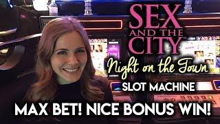 Sex and The City Night On The Town Slot Machine! Bonuses WIN!!!