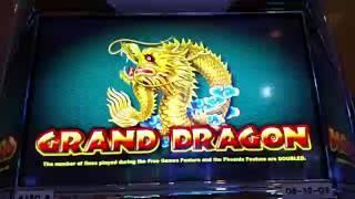 $10 bet High Limit Ainsworth Grand Dragon Good Win slot machine free spins