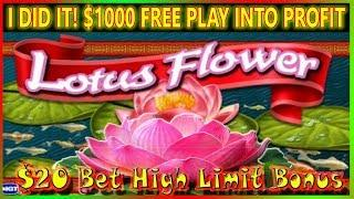 • I DID IT! TURNED • $1000 • FREE PLAY TO A PROFIT ON HIGH LIMIT SLOTS •