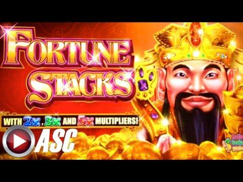 *NEW* FORTUNE STACKS | Konami - BIG WIN!! Slot Machine Bonus