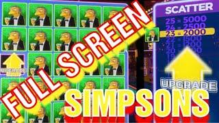 BIG WIN  FULL SCREEN ON THE SIMPSONS !!!!! LOTS OF BONUSES AND FEATURES AND WILLY WONKA TOO !!!!!