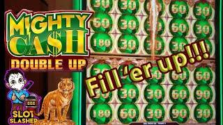 ⋆ Slots ⋆FILLING BOTH SCREENS⋆ Slots ⋆ ON MIGHTY CASH DOUBLE UP!  AMAZING RUN!