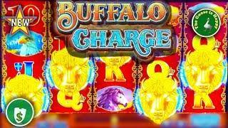 •️ New • Buffalo Charge WA VLT slot machine, Big Win