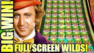 INCREDIBLE FULL SCREEN OF WILDS!! $6.00 BET! NEW DREAMERS OF DREAMS WILLY WONKA Slot Machine (SG)