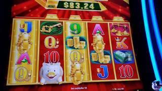 Buffalo Gold, Gold Bonanza,  and Timberwolf bonuses on max bet!