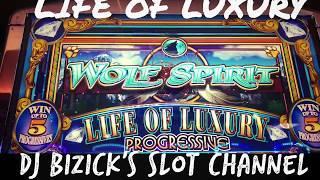 •WOLF SPIRIT SLOT MACHINE•LIFE OF LUXURY FREE SPIN BONUS• •PROGRESSIVE JACKPOT WIN•