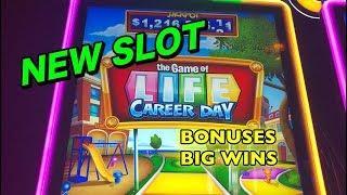 NEW SLOT: Game of Life Career Day, Bonuses and Big Wins