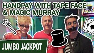 ★ Slots ★ Handpay with Tape Face & Magic Murray! ★ Slots ★ + MAGIC on The Las Vegas Strip