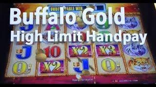 High Limit Buffalo Gold Handpay ($12 a spin) + other buffalo bonus wins!