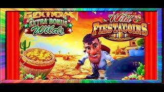 •WILD FIESTA COINS RETRIGGER•MIGHTY CASH FULL SCREEN WIN!! •BONUS WINS•CASINO GAMBLING! ARISTOCRAT!