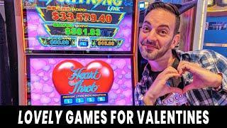 • LOVE-LY Slots For Valentine's Day! • I LOVE BIG WINS! • @ Hard Rock Atlantic City •#ad