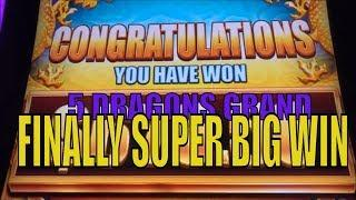 •FINALLY SUPER BIG WIN•5 DRAGONS GRAND Slot machine•Sweet Dragons ! •彡 栗スロット/カジノ