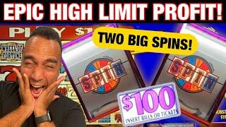 $100 Wheel of Fortune - TWO JACKPOT SPINS!!  Epic High Limit PROFIT @ Harrah's Lake Tahoe!!⋆ Slots ⋆
