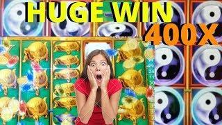 SHOCKING• HUGE• 400x• win •China Shores• 105 game Retrigger