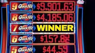 •BIG WIN•QUICK HIT RICHES  7 Quick Hits Hit & Free Games Won   Great Session  Walking Dead Slot Play