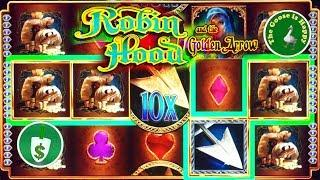 • Robin Hood and the Golden Arrow slot machine, 2 Sessions, Big Win