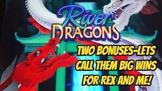 RIVER DRAGONS-TWO FUN WINNING BONUSES