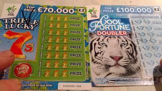 Full of 500's Scratchcards...with WINNERS...TRIPLE 7..COOL FORTUNE ..VIP..LUCKY FORTUNE..ROYAL 7's..