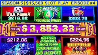 Wonder 4 Jackpots Slot Machine Buffalo Gold , Wild Panda Max Bet Bonuses     Season-5   EPISODE #4