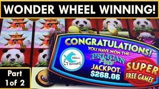 •SO MANY BONUSES!!! WONDER WHEEL SLOT MACHINE DELIVERS! •Super Free Games and Jackpot!•