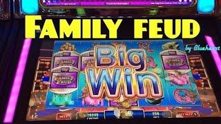 **NEW** FAMILY FEUD slot machine Max bet For the Win BONUS WINS!