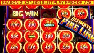 NEW Ultimate Fire Link Slot Machine Bonus-GREAT SESSION   Season 3   EPISODE #26