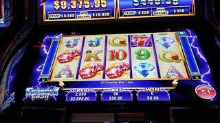 $1900 at $50/spin Thunder Cash HIGH LIMIT SLOTS
