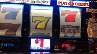 Triple Double Diamond - Triple Big Bar / Burning Bar - Two Times Pay $1 Slot Machine @ Pechanga