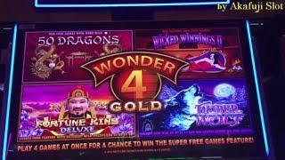 WONDER 4 GOLD Slot Machine Bet $4.80 Nice Win!! San Manuel Casino, Akafujislot