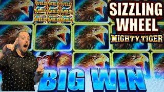 NEW GAME• •SIZZLING WHEEL MIGHTY TIGER• FREE SPINS•