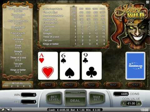 Joker Wild - video poker