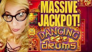 $2.64 BET HITS 5 FIGURES!!!! Juicy Deucey of Slot Ladies on Dancing Drums! MASSIVE JACKPOT