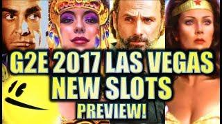 •G2E 2017• NEW 2017-2018 SLOT MACHINES SNEAK PEEK PREVIEW!! LAS VEGAS GLOBAL GAMING EXPO PREVIEWS