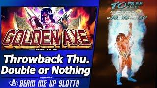 Golden Axe Slot - TBT Double or Nothing, Live Play and Free Spins Bonuses