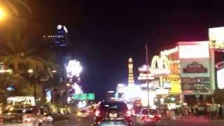 Driving the Las Vegas Strip in AT NIGHT 2013 HD - Part 2 / 2 Great Ride - Beautiful Views!