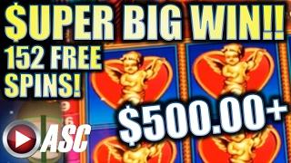 •SUPER BIG WIN!• LAGO DI AMORE | MAX BET! 152 FREE SPINS! Slot Machine Bonus (Konami)