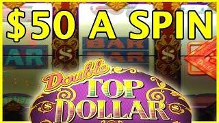 • $50/BET Double Top Dollar Bets!! • HIGH LIMIT SLOTS • Slot Machine Pokies w Brian Christopher • mi