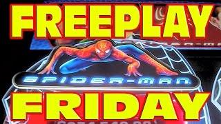 FREEPLAY FRIDAY: Spider Man Slot Machine LIVE PLAY Win