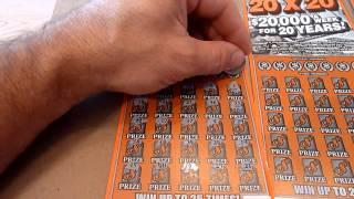 Winner and Losers - THREE Scratchcards Illinois Lottery 20X20 $20,000 per week