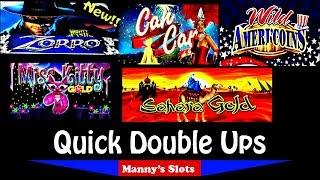 Big Wins!!! (Quick Double Ups) New! Zorro Mighty Cash, Miss Kitty Gold,Sahara Gold and Ameri'Coins