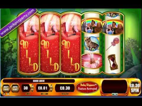 £505 ON WIZARD OF OZ RUBY SLIPPERS™ MEGA BIG WIN (1683 X STAKE) - SLOTS AT JACKPOT PARTY