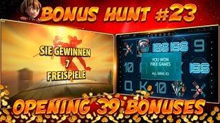 BONUS HUNT #23 - OPENING 39 SLOT BONUSES LIVE ON STREAM! - BIG WINS?