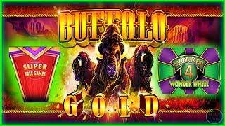 • SUPER FREE GAMES • BUFFALO GOLD WONDER 4 WONDER WHEEL SLOT MACHINE