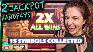 ⋆ Slots ⋆ 2 HANDPAY JACKPOTS⋆ Slots ⋆ on MIGHTY CASH Outback Bucks in Las Vegas!