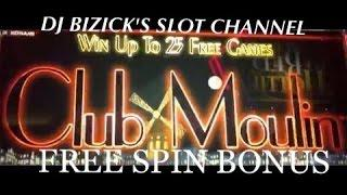 Club Moulin Slot Machine - THROWBACK THURSDAY #tbt - FREE SPIN BONUS! • DJ BIZICK'S SLOT CHANNEL