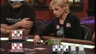 View On Poker - Jennifer Harman Makes A Great Laydown As She Throws Away Pocket Kings!