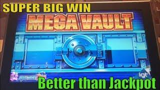 •SUPER BIG WIN•Better than A Jackpot ! MEGA VAULT Slot machine (igt) Live play@ Barona •彡kurislot 栗