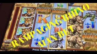 RAMPAGING Rhino Bonus Free Games, RHINO MANIA!